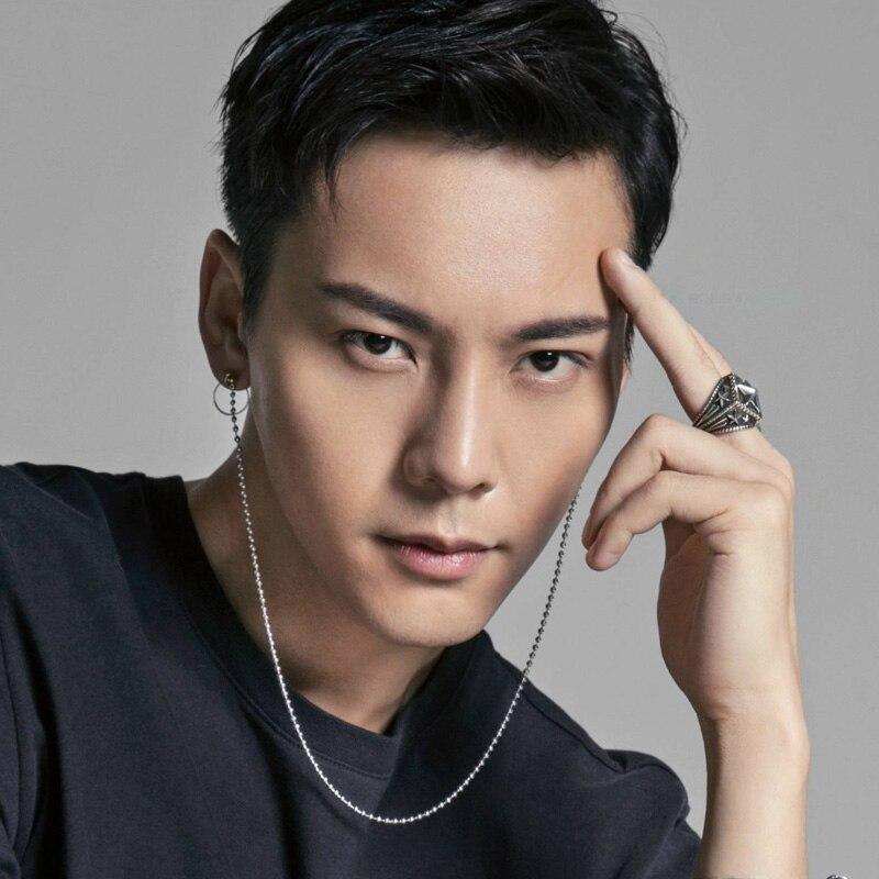 aa949eac51faa 1pcs KPOP Bangtan Boys Earrings Album V DNA Double ear hole Long Bead chain  Front and back hang Stud Earrings Men Women