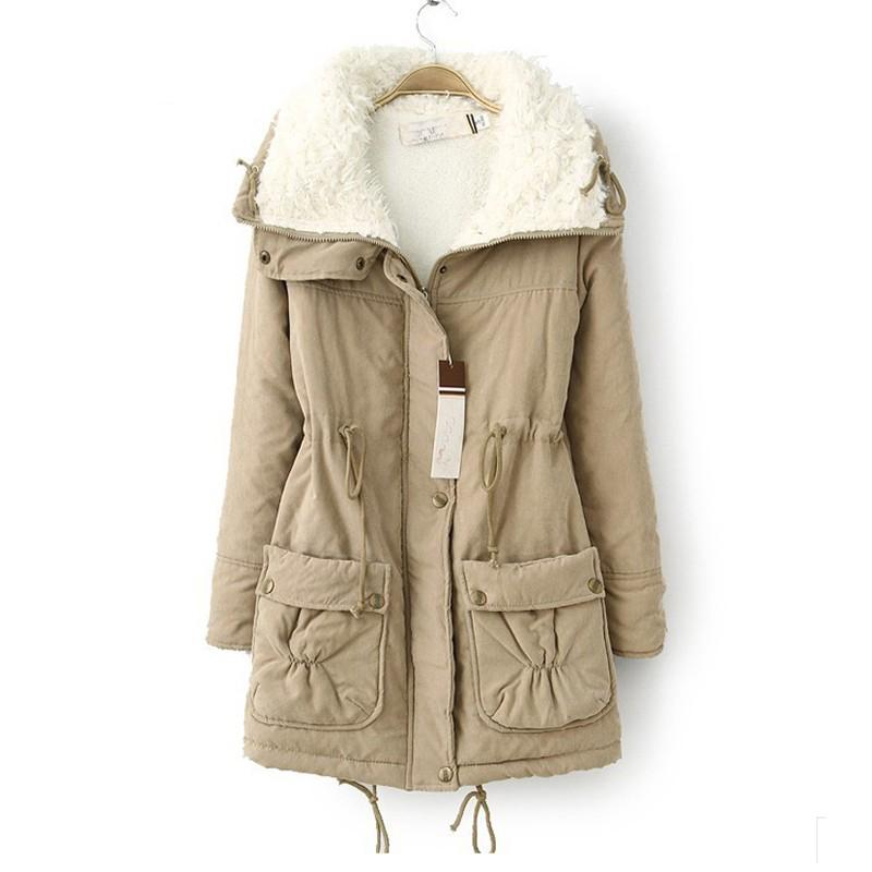 ФОТО New Autumn Winter Jacket Coat Women Parka Woman Clothes Solid Long Jacket Slim Plus Size Womens Winter Jackets And Coats