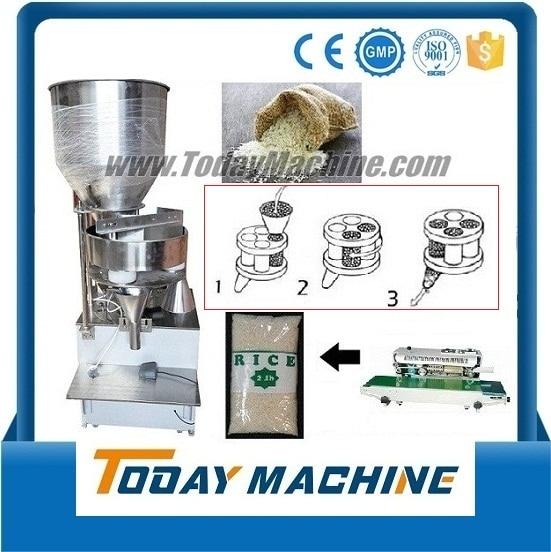 semi automatic granule food/capsule/salt/rice/wheat filling machine(also supply automatic model)
