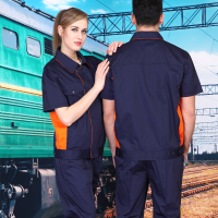 Set of coat+pants Short sleeve work wear uniform factory worker coat car service washing service coat