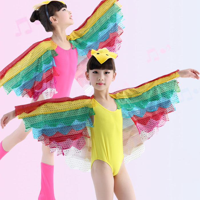 2018 New Rainbow Bird Children leotard Children Performance Clothing Animal Wings Latin Ballet Stage Costume 3 color-in Ballet from Novelty u0026 Special Use on ...  sc 1 st  AliExpress.com & 2018 New Rainbow Bird Children leotard Children Performance Clothing ...