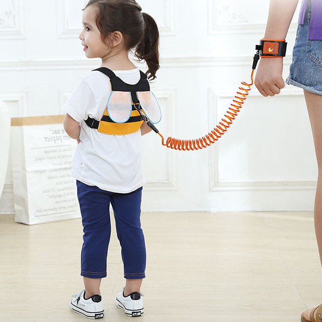1-8Y Kids Baby Anti Lost Belt Strap Rope Wrist Link Toddler Children 8ft Expandable Cartoon Safety Outdoor Walking Harness Leash 4