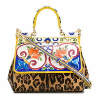 Sicilian Classic Handbags Luxury Design Style Printing Female Tote Bag/Handbag Famous Brand Ladies Shoulder Bag Original Quality