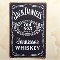 20x30cm Jack Dan black retro metal tin signs poster iron painting vintage wall sticker JACK DANIEL decoration for bar restaurant