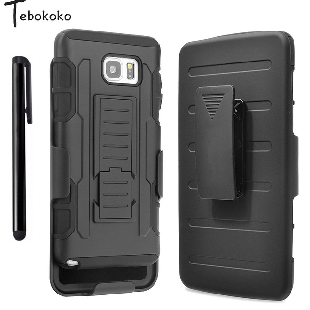 sale retailer 9e4b8 ad7ea US $3.69 |For Samsung Galaxy Note 5 Case Soft Silicone+PC Defender Armor  Belt Clip Holster Stand Case for Samsung Galaxy Note5 Cover Coque-in  Holsters ...
