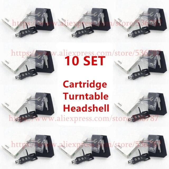 איכות טובה 10 סטים\חבילה פטיפון Headshell 4 קשר סיכה עבור טכניקה עבור אחרים פטיפונים Fit Phono פטיפונים Headshells