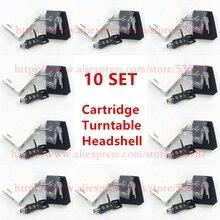 Dobrej jakości 10 zestawów/partia gramofon Headshell 4 Pin kontakty dla Technics dla innych gramofonów pasuje gramofony gramofony Headshells