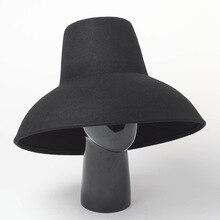 01809 haihong8132 ٪ الصوف موضة عالية المنصة تصميم الشتاء فيدوراس قبعة الرجال النساء الترفيه قبعة