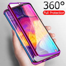 Luxury 360 Full Cover Phone Case For Samsung Galaxy A50 A70 A40 A30 A10 A60 Shockproof Case For Samsung M20 M30 M10 Fundas Capa(China)