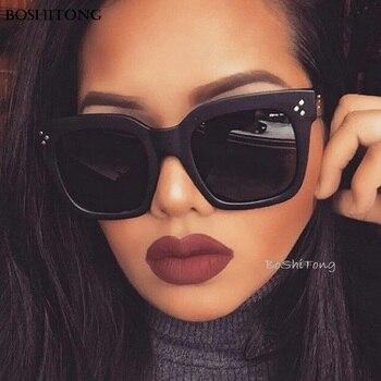 Vierkante Zonnebril Vrouwen Merk De Grote marco Gradiënt Vintage Zonnebril Voor Mannen Oculos De Sol Feminino