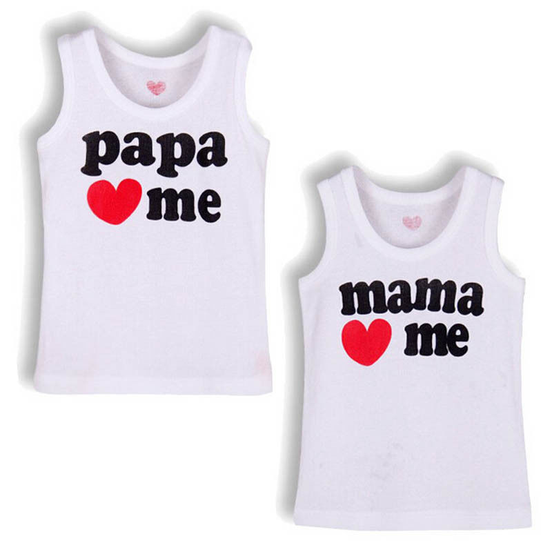 2017 New Style Love T Boys Girls T-shirt Baby Clothing Little Boy Girl Summer Shirt Cotton Tees Cartoon Clothes Hot Sale