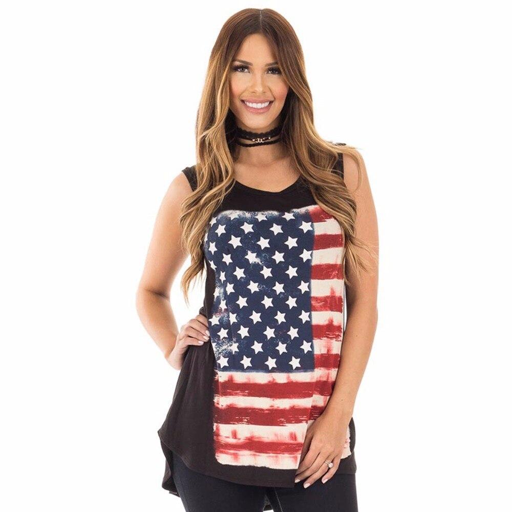 4d06f7c53ad7 Puseky American Flag Print Patriotic Racerback Tank Dress Women Sleeveless  Mini Dresses Summer Casual USA Flag Dress Vestidos