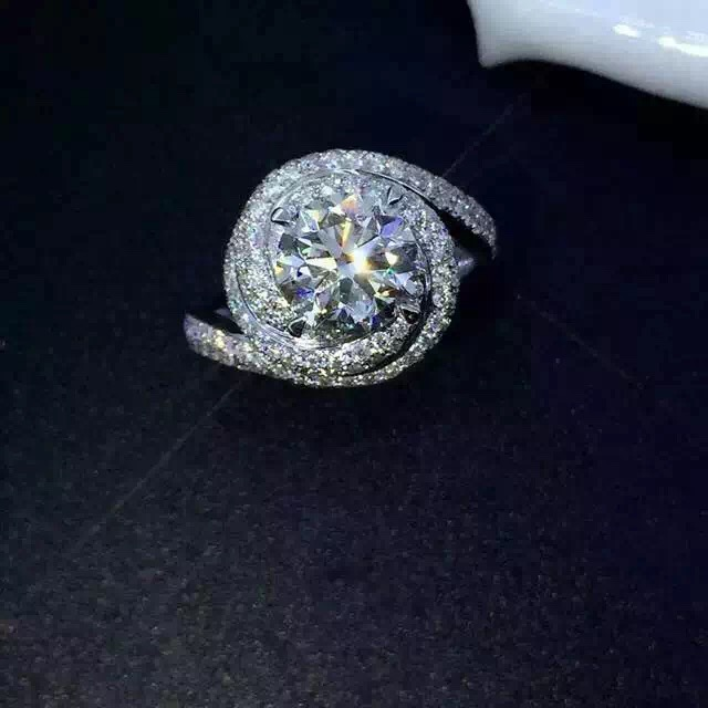 Гарячі продажу Мода Розкішні жіночі ювелірні вироби 925 проби стерлінгового срібла 5A CZ камені Циркон Жіночі обручки для пальців розмір5-11