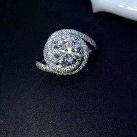 Hot Sale Fashion Luxury Women Engagement Jewelry 925 Sterling Silver 5A CZ Diamond Zircon Female Wedding