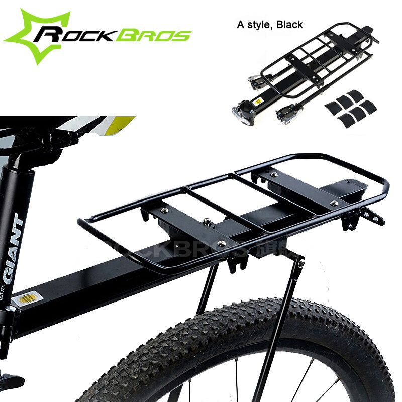 Rockbros Bicycle Rear Rack Quick Release Bike Seat Luggage Mountain Road Stand Kickstand - Sireck Sports store
