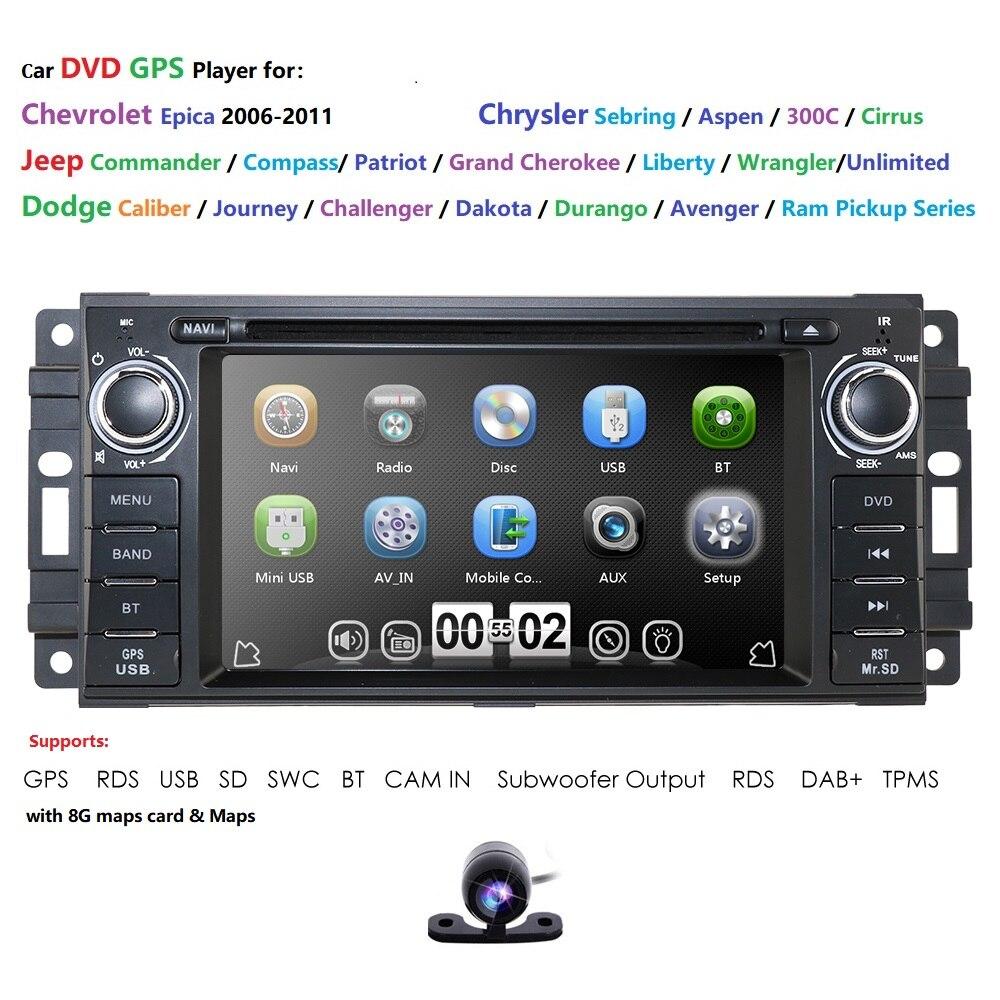 Pour Dodge Ram Challenger Jeep Wrangler JK unité de tête unique Din 6.2 écran tactile dans le tableau de bord récepteur Radio Navigation Bluetooth DAB +