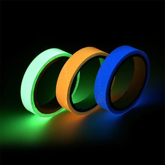 Glow Tape Sticker Fluorescent Luminous 3mx10mm DIY Wall Door Stairs Window Warning Safety Self-adhesive In Dark Strip At Night