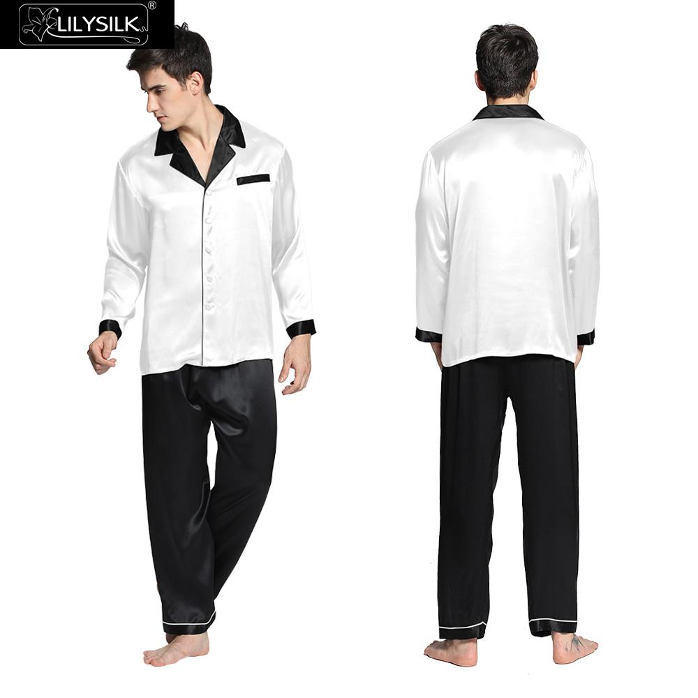 Popular Mens White Silk Pajamas-Buy Cheap Mens White Silk Pajamas ...