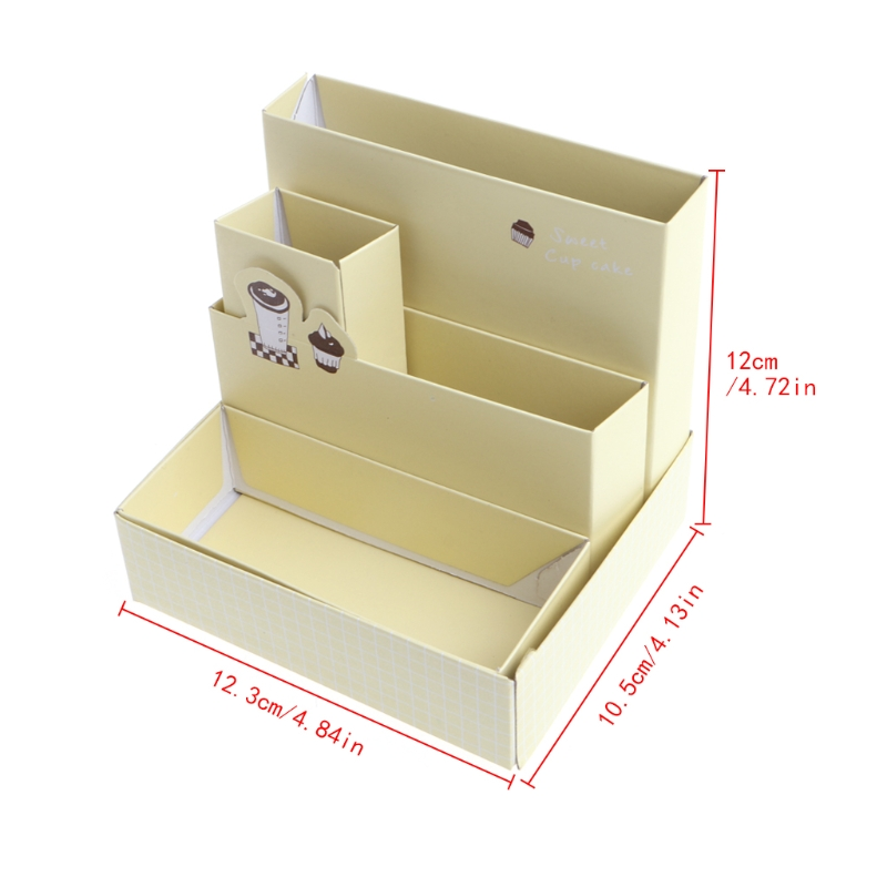 Table Storage Utensils Table Storage Products Paper Board Storage Box Desk Decor Stationery Makeup Cosmetic Case Organizer DIY