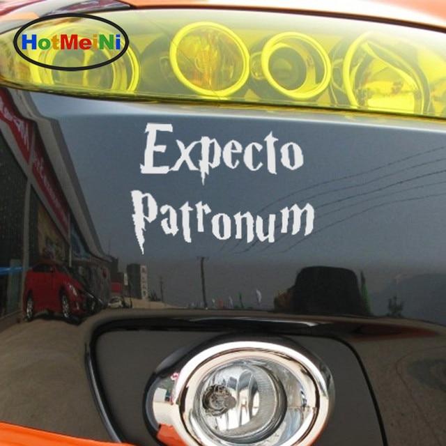 Hotmeini beautiful classic lettering arts expecto patronum harry potter car sticker window bumper suv decor vinyl