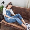 WomensDate 2016 Hot Sale Overalls For Women New Arrival Autumn Plus Size Denim Bib Pants Female Bib Pants Female Jeans Overalls