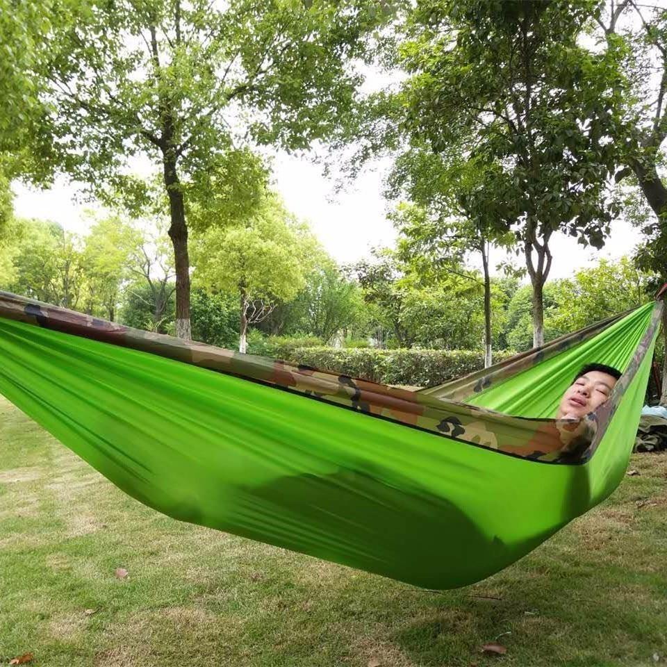 Jaunas maskēšanās izpletņa šūpuļtīkls āra telts Hamac dārza mēbeles šūpoles Hamaca Hangmat kempinga šūpuļtīkli