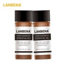 ЛАНБЕНА Сутність зростання волосся Продукти для вирощування волосся Ефірне масло рідке лікування, запобігання випадання волосся Догляд за волоссям Andrea 20ml 2PCS