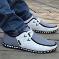 Homens sapatos calçados casuais dos homens 2016 de moda de nova PU