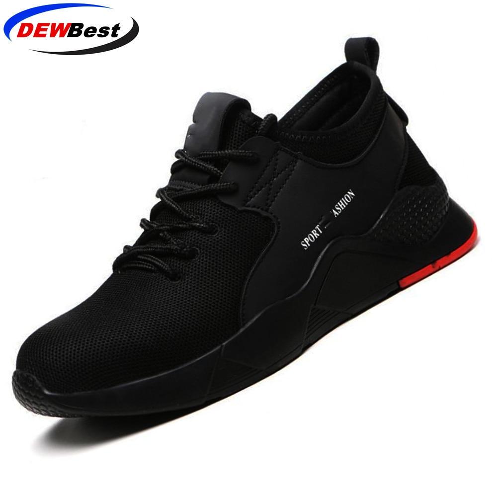 Рабочая обувь со стальным носком; легкая дышащая мужская защитная обувь; мужские кроссовки со светоотражающими вставками - Цвет: Kevlar sole XZ188