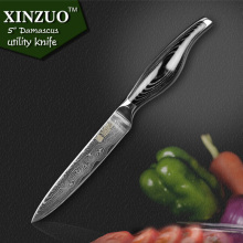 XINZUO 5 inches utility knife 73 layer Japanese Damascus kitchen knife knife super sharp fruit paring knife Free shipping
