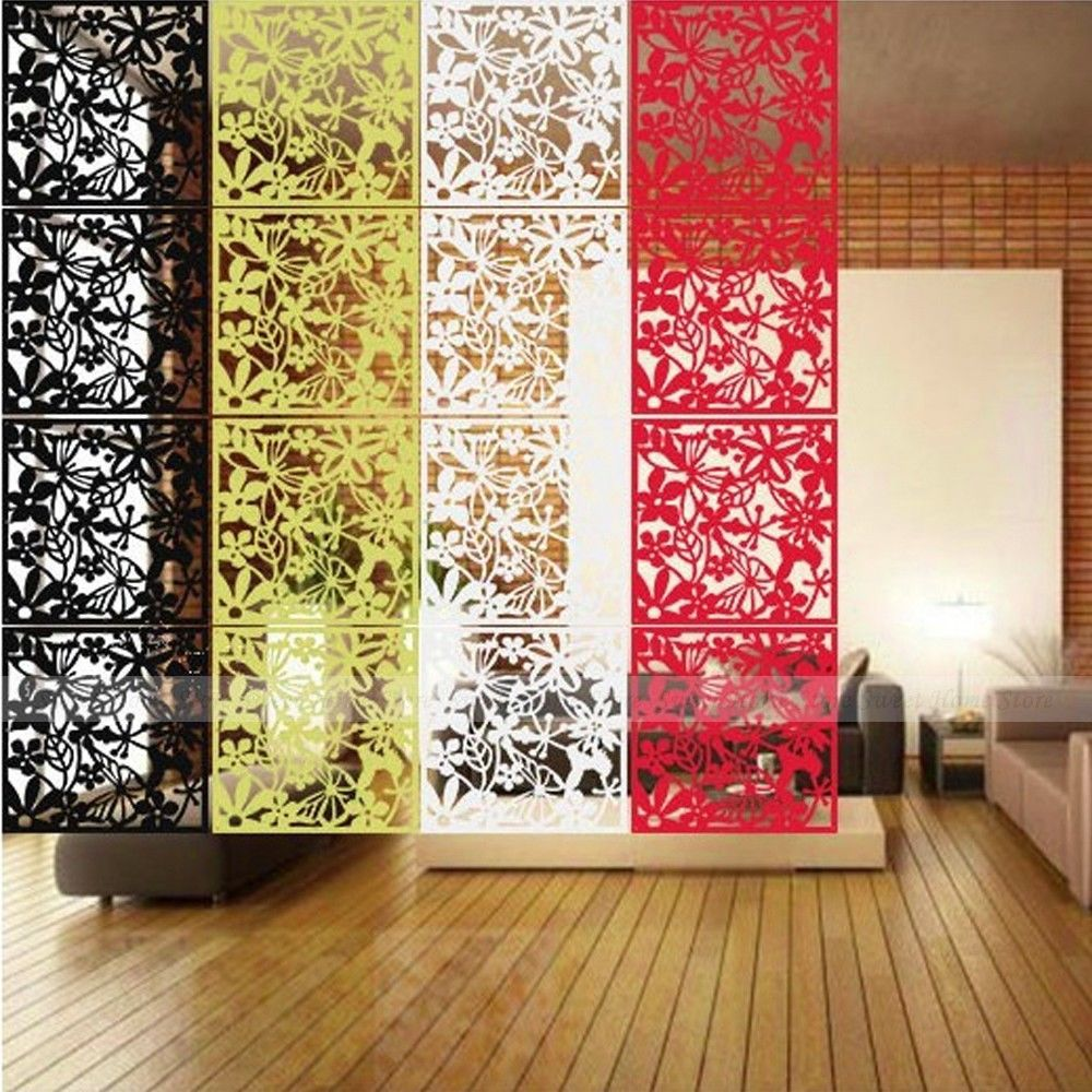 Yazi 4PCS Butterfly Flower Bird DIY Hanging Screen Panel Room Divider  Partition Wall Sticker Yellow 40x40cm In Screens U0026 Room Dividers From Home  U0026 Garden On ...