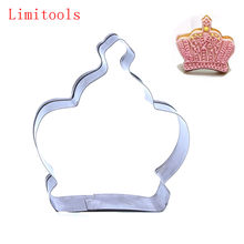 1 pc Premium Stainless Steel Princess Crown King Queen Party Cookie Cutter Cake Biscuit Baking Tool Mold Baking Tools For Cakes(China)
