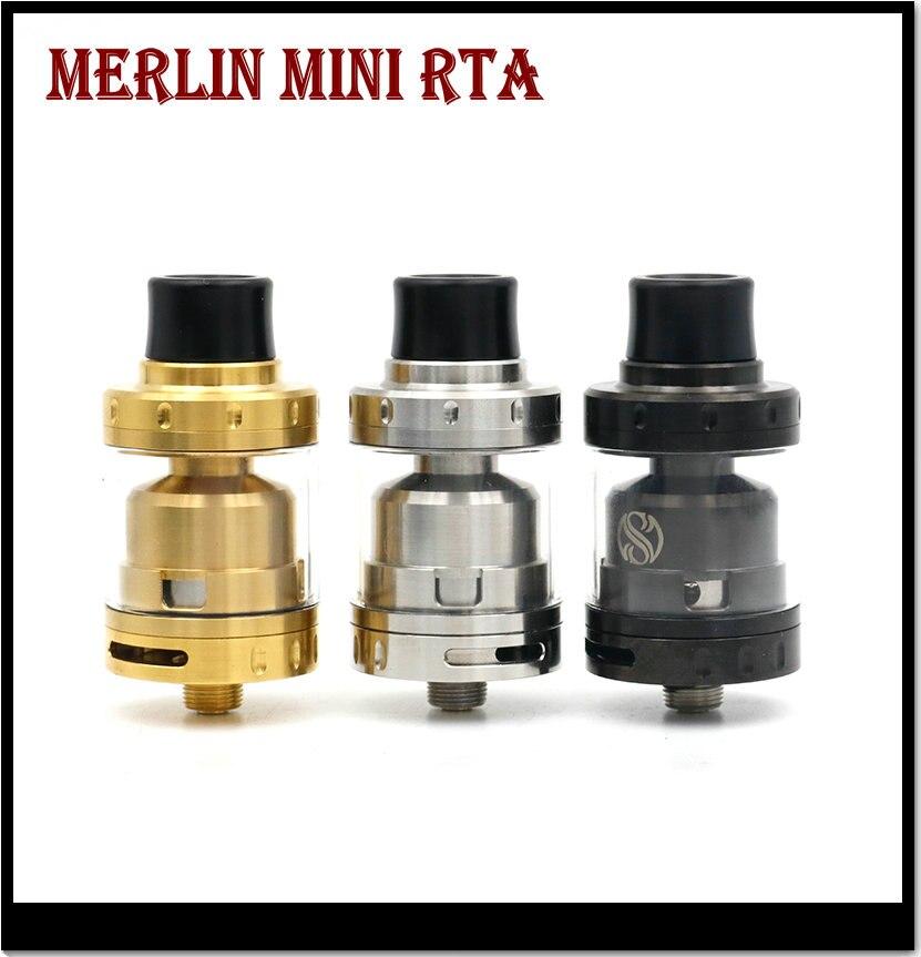Khree Merlin Mini RTA Tank 2ml Single dual coil Deck  Bottom Dual Airflow Merlin Mini Atomizer Vaping RTA Tank