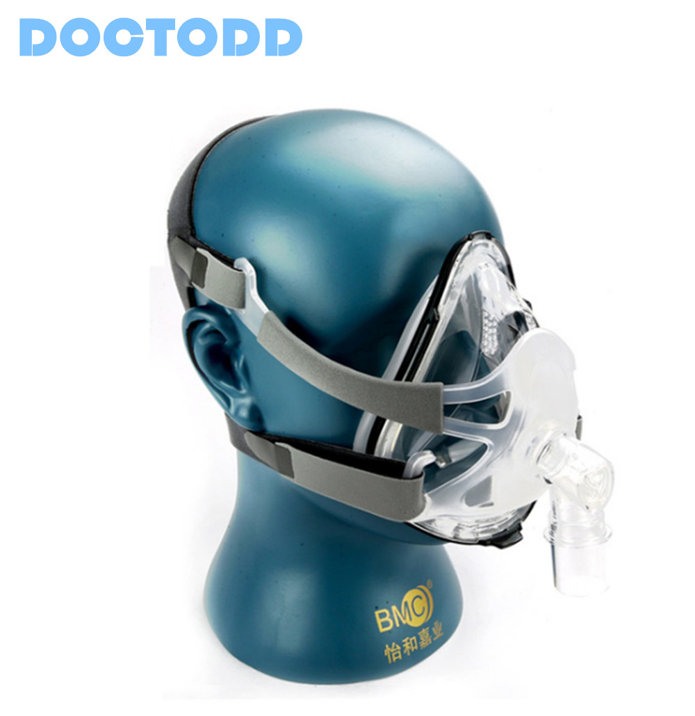Doctodd F1A Full Face Mask With Free Headgear For CPAP Auto CPAP BiPAP Respirator Size S M L Snoring Therapy Interface