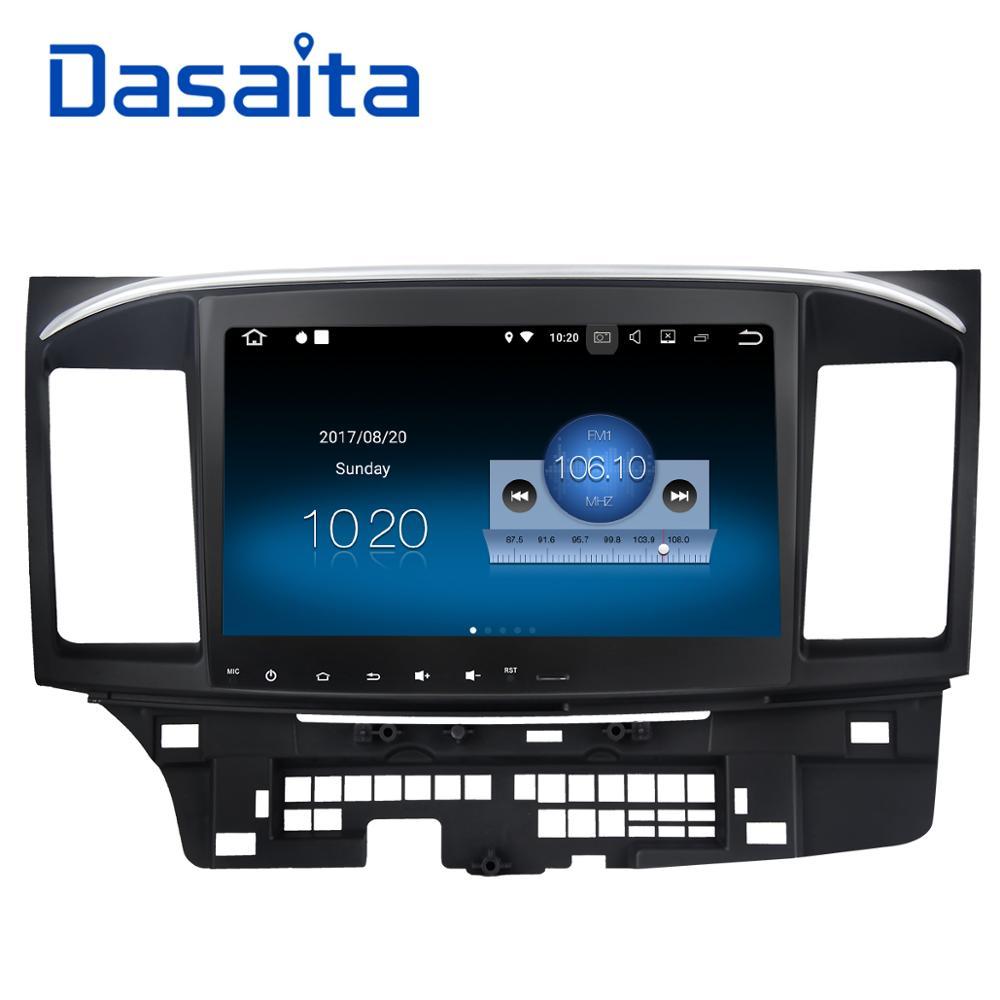 Dasaita 10.2 Android 8.1 Voiture GPS Lecteur Navi pour Mitsubishi Lancer 10 Galant avec 2g + 16g quad Core AUCUN dvd Radio Multimédia