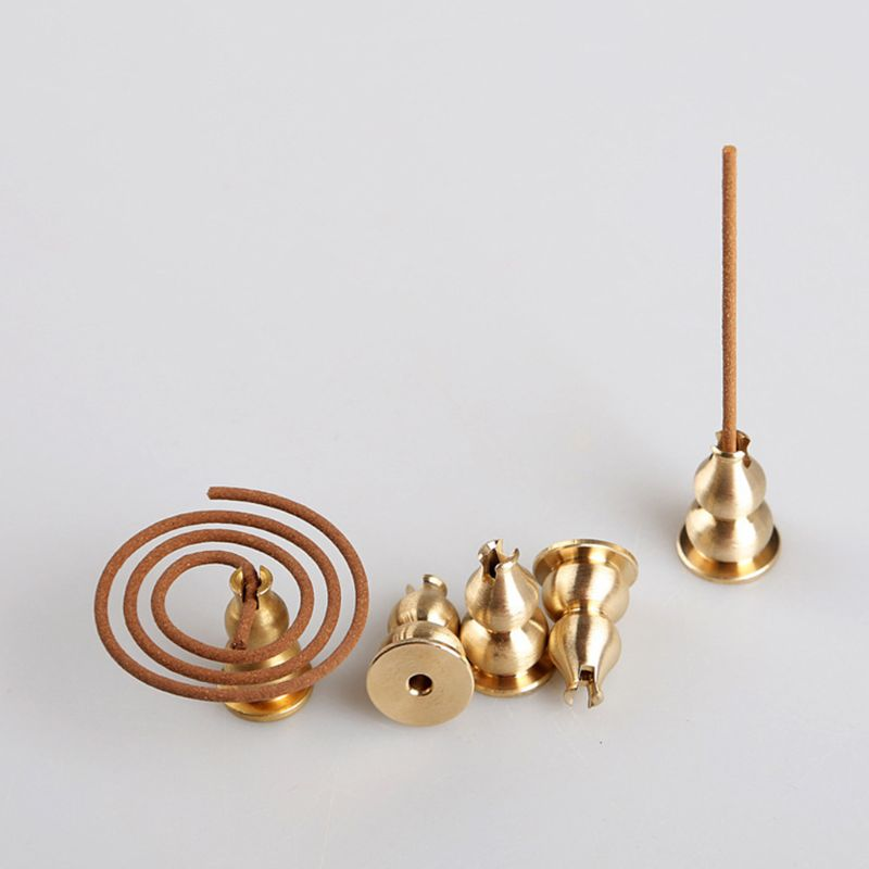 Alloy copper gourd incense insertion furnace base line saucer Incense stick Home Aromatherapy Accessories