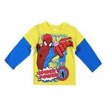 boy t-shirt brand 2016 cartoon spider-man boys t shirts spring autumn spiderman long sleeve toddler boy t shirt for baby clothes