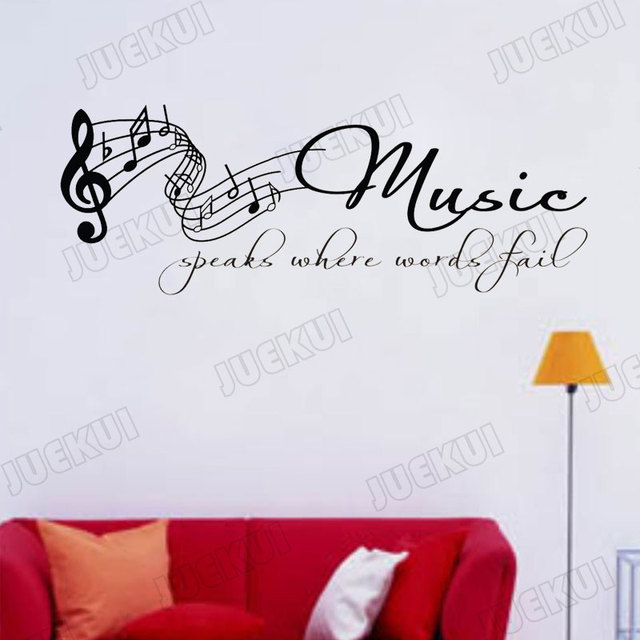 Tabs Note Lettering Quotes Removable Wall Sticker for Music Living Room Art Decoration Vinyl Decals Poster Stickers SA32 2
