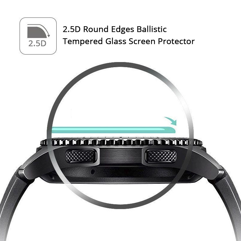 Image 5 - 2Pcs/lot Tempered Glass For Samsung Galaxy Watch Glass 42mm 46mm 9H 2.5D Screen Protector For Samsung Galaxy Watch 46mm Film-in Phone Screen Protectors from Cellphones & Telecommunications