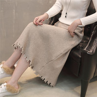 59 Zhong 4 Row 1 Qiu Dong The A Line Skirt Long Knitting Women In Skirts