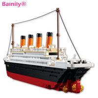 Bainily Model Building Kits Compatible With LegoINGly City Titanic 3D Ship Blocks Educational Model Building