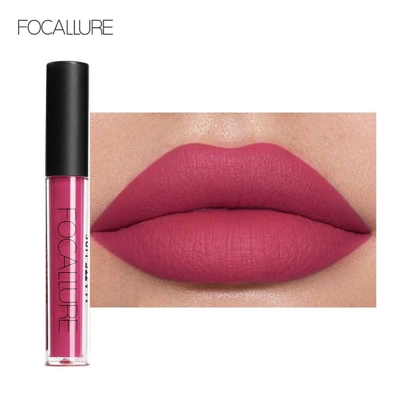 FOCALLURE Matte Lipgloss Sexy Liquid Lipstick Matte Long Lasting Waterproof Cosmetic Beauty Keep 24 Hours Makeup Lipgloss