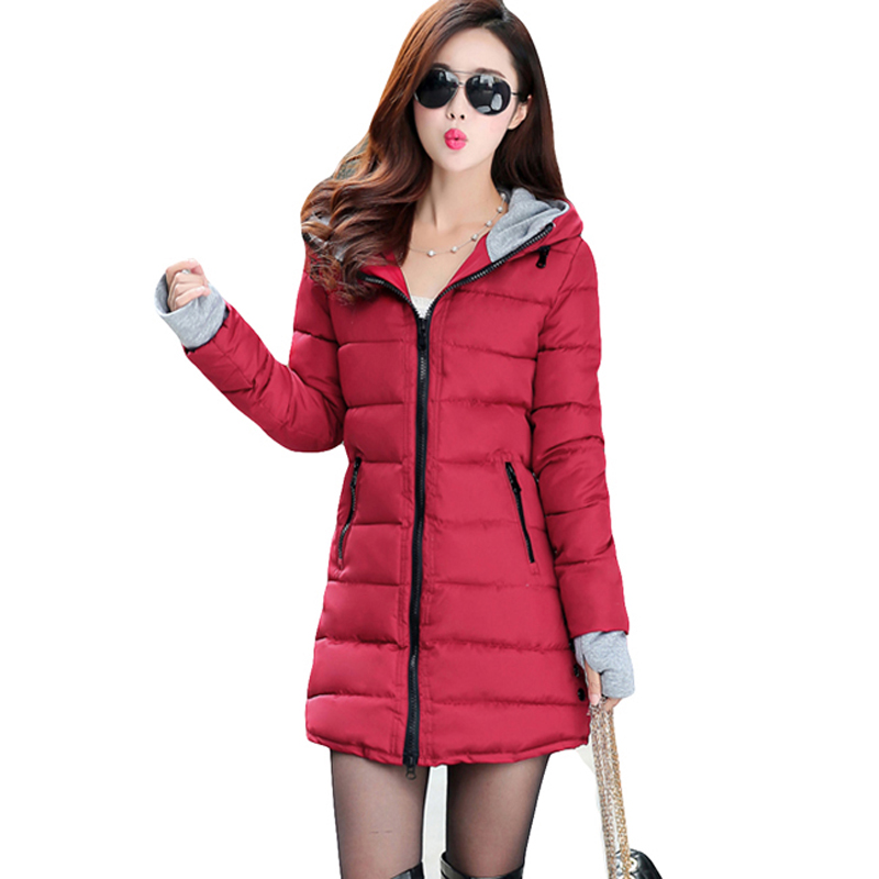 New 2019 Ladies Long Winter Warm   Coat   Women thick White Duck   Down   Jacket Women Hooded Parka Female Jackets LJ0822