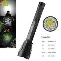 7000lm TrustFire J18 светодиодный фонарик Открытый Водонепроницаемый Extended факел лампы 5 Режим 7 x XM-L2 светодиодный вспышки света