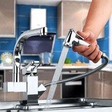 Современный кухонный кран хром полированный бортике одной ручкой на одно отверстие горячая холодная вода видных смеситель для кухни
