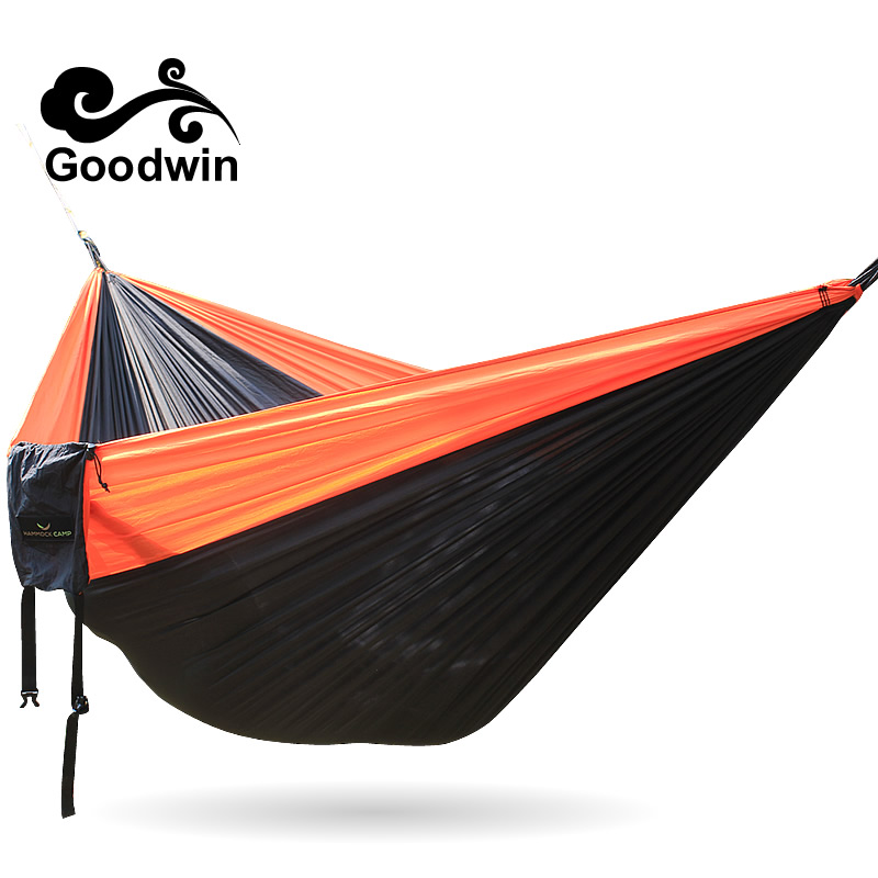 20 Color 2 people Hammock 2016 Camping Survival Garden Hunting Leisure Travel Double Person Portable Parachute Hammocks 3M*2M hooded color block stripe spliced varsity hoodie