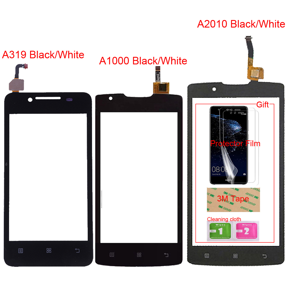 For Lenovo A 319 A 1000 A 2010 TouchScreen Mobile For Lenovo A319 A1000 A2010 Touch Screen Glass Digitizer Panel Sensor Gift