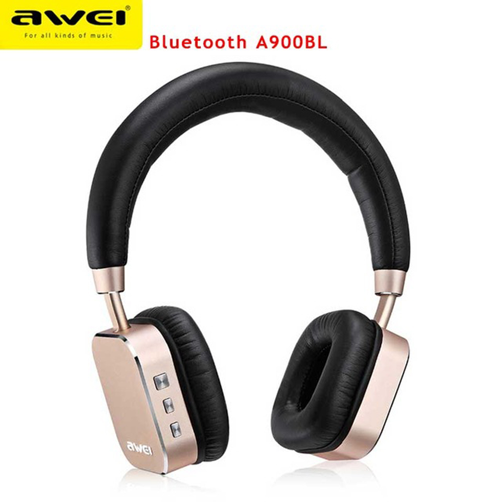 Awei A900BL Casque Audio Auriculares Bluetooth Headset Big Earphone For Head Phone Cordless Wireless Headphone With Microphone awei es 900i in ear stereo headphones with microphone 3 5mm plug blue