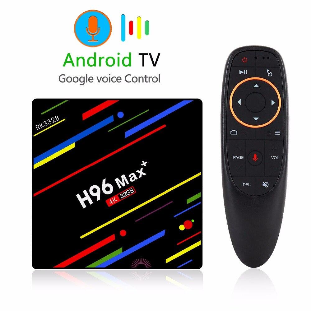 2018 nouveaux produits sortie d'usine H96 MAX + ATV voix Android 8.1 OS 2G/4G + 16G/32G/64G 2.4 ghz Android TV BOX x96 mini
