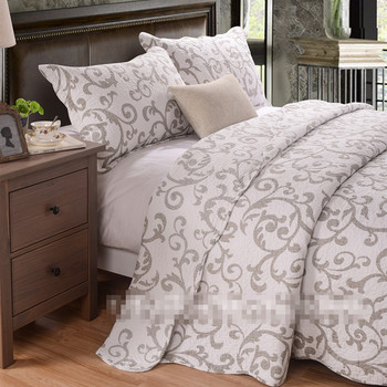 Free shipping American fresh pastoral style 3pcs patchwork quilt full/queen size washed aircondition bed cover/bedspread